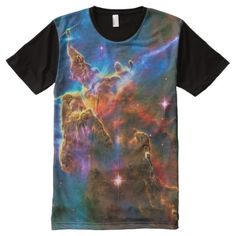 Carina Nebula Mystic Mountains - Carina Nebula Astronomy Image All-Over-Print T-Shirt - click/tap to personalize and buy - Carina Nebula, Orion Nebula, Mystic Mountain, Astronomy Stars, Space Photography, School Accessories, Stylish Shirts, S Shirt, Outer Space