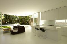 whit kitchen | Kerr House by Tony Owen Architects | australia