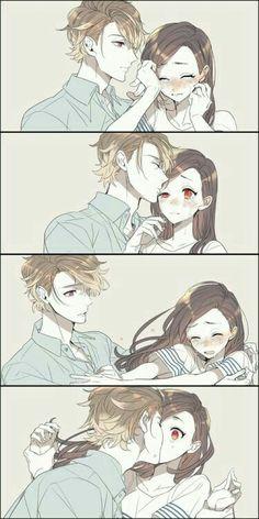 anime, couple and manga Couple Manga, Anime Love Couple, Cute Anime Couples, Anime Couples Hugging, Anime Couples Manga, Anime Girls, Anime Amor, Manga Anime, Anime Comics