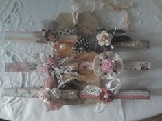 Lace & Pearls Handmade Creations*  Altered Clothespins <3