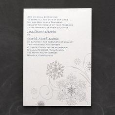 Snowflake Fantasy Invitation - Wedding Invitations - Wedding Invites - Wedding Invitation Ideas - View a Proof Online - #weddings #wedding #invitations
