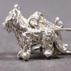 Briard silver EARRINGS (hooks) cropped
