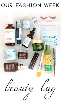 A Peek In Our Fashion Week Beauty Bag | theglitterguide.com