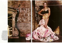 bridal editorial couture photo | British Vogue Wedding dress Haute Couture editorial.