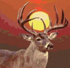 Cross Stitch | Deer xstitch Chart | Design