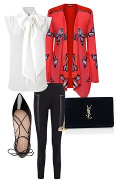 Red in the Night by mcasspr on Polyvore featuring polyvore, fashion, style, WearAll, French Connection, Kate Spade, Yves Saint Laurent and clothing