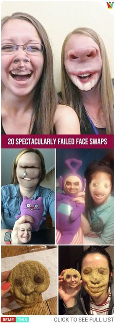 20 Face Swaps That Failed Spectacularly - Lol - Lustig Funny Face Swap, Funny Love, Funny Guys, Face Swaps, Face Swap Fails, Lol, Memes Funny Faces, Funny Humor, Memes Humor
