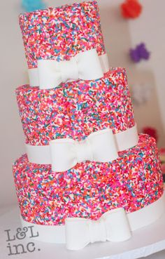 birthday cakes for teen girls | The girls at the party received a pretty bow from CLAYNIES CORNER to ...?