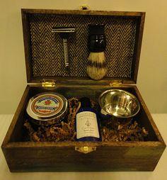 Groomsmen Shaving Kit  Ombre Vintage Rustic by CardinhamKilligrew