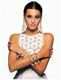 Yasmin Le Bon in Valentino, 1993. Photo: Walter Chin.