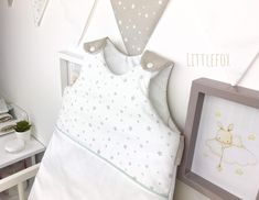 Mint and beige baby sleeping bag Nursery Room, Etsy, Women, Baby Racoon, White Cotton, Mint, Bebe, Child Room, Woman
