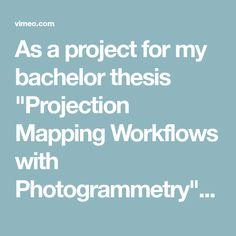 """As a project for my bachelor thesis """"Projection Mapping Workflows with Photogrammetry"""" I created a projection mapping onto a wall of to the Monestary Herzogenburg. Projection Mapping, Thesis, Activities, Wall, Projects, Technology, To Study, Psychics"""