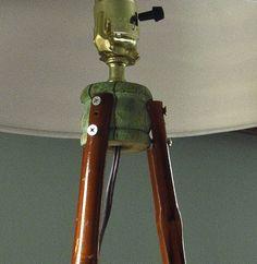 Hometalk | Ski Pole Table Lamp
