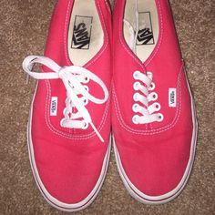 Red vans Vans Shoes Sneakers