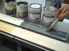 """Faux Finishing with Varathane's new stain colors and metallic polyurethanes is an """"Inspiration."""" This video shows Pewter Metallic over Bleached Blue and Kona..."""