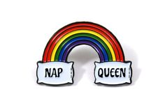 Nap Queen Soft Enamel Pin by Heartificial on Etsy https://www.etsy.com/listing/465180287/nap-queen-soft-enamel-pin