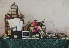 love the green table cloth  The Cream Los Angeles | photo by Rad and in Love | 100 Layer Cake