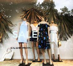"CLUB MONACO, London, UK, ""Komorebi (Japanese)"", (Sunlight that filters through the leaves of palm trees),   photo by Window Shoppings, pinned by Ton van der Veer"