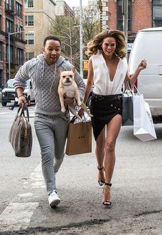 Em clima de dia dos namorados, uma seleção dos casais mais estilosos da atualidade!!  John Legend e Chrissy Teigen
