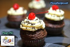 Easy Chocolate Cupcakes Recipe http://www.pinoyrecipe.net/easy-chocolate-cupcakes-recipe/