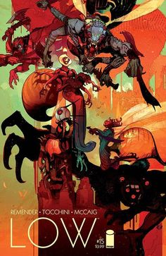 "IMAGE COMICS (W) Rick Remender (A/CA) Greg Tocchini END OF STORY ARC ""SHORE OF THE DYING LIGHT,"" Finale With the world burning around them, the Caine women must decide the fate of humanity once and fo"