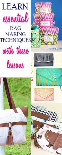 how to sew bags   bag sewing patterns   purse patterns   tote sewing patterns