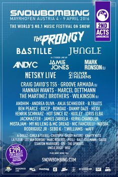 Party in the mountains! Snowbombing 2016 with Prodigy, Bastille, Jungle, Andy C, Netsky