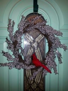 Chilly winter wreath! A little sparkle after Christmas!