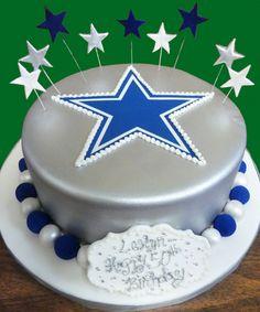 Dallas Cowboys Inspired Birthday Cake