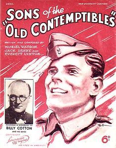 Sons of the Old Contemptibles Sheet Music for Piano & Voice 1940 great item is closing in a few hours