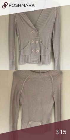 Like-new double-breasted beige sweater Fun, stylish, and cozy. Great with jeans and boots. Charlotte Russe Sweaters