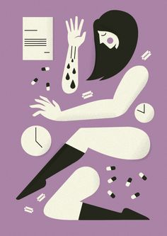 Some editorial work made in 2012/13 Vol.1 by Adam Quest, via Behance