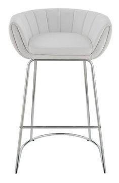 Scott Living Contemporary White Low-Back Bar Stool - Coaster Fine Furniture