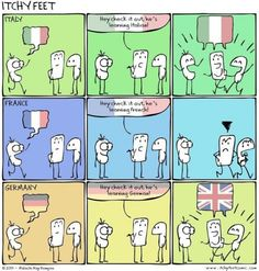 How To Learn German in Germany When Everyone's Speaking English To You – Kluge Witze Tumblr Funny, Funny Memes, Hilarious, Jokes, Videos Funny, Learn German, Learn French, The Awkward Yeti, Comics Illustration