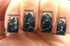 Constellation nails - for those who are into their beauty and their astronomy