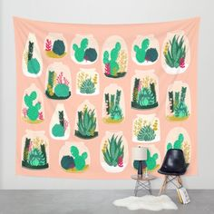 Buy Terrariums - Cute little planters for succulents in repeat pattern by Andrea Lauren Wall Tapestry by Andrea Lauren Design. Worldwide shipping available at Society6.com. Just one of millions of high quality products available.