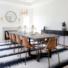 Look at this dramatic dining room by @nataliemyers  So unique. Wed love to take it on. Like it if youd like to see us recreate it   by @amybartlam #CopyCatChic