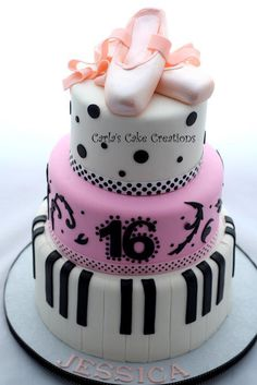 Ballerina and Piano cake - Cake by Carla