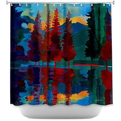 Shower Curtain - DiaNoche Designs - Colorado Sunset