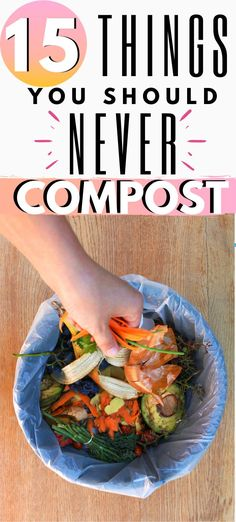 Composting reduces trash output and provides an excellent soil amendment for gardens. The benefits are large, but not everything belongs in your compost. How To Start Composting, How To Make Compost, Composting At Home, Worm Composting, Composting Methods, Compost Container, Container Garden, Kitchen Compost Bin, Compost Bucket