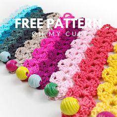 Crochet Bracelet Pattern, Crochet Jewelry Patterns, Crochet Stitches Patterns, Crochet Flower Patterns, Crochet Accessories, Bracelet Patterns, Crochet Flowers, Stitch Patterns, Crochet Ideas