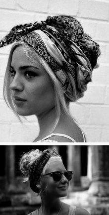 Pañuelo- Love the turban idea