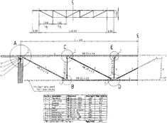 Resultado de imagen de dimensions of timber truss Steel Trusses, Roof Trusses, Roof Truss Design, Building A Pole Barn, Steel Detail, Roof Detail, Roof Structure, Architectural Section, Outdoor Projects