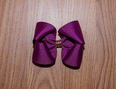 Toddler hair bow- Plum Purple hair bow with gold glitter center- 4 inch bow- hair accessory- large boutique bow- boutique hair bow- hairbows by NanabellesPretties on Etsy https://www.etsy.com/listing/490443926/toddler-hair-bow-plum-purple-hair-bow
