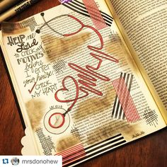 """@craftedword on Instagram: """"Motives! So important! @mrsdonohew has a great journaled page, """"check my heart"""". Awesome visual!! #craftedword #repostedwithpermission #Repost @mrsdonohew with @repostapp. ・・・ Help me to not offer unauthorized fire before you Lord. Help me to enter into a worship season where it's only you and I. Help me to leave everything at the altar to offer up wholehearted praise. Too many times we come to God's house or enter into praise in the wrong mindset or the wrong… Bible Verse Art, Bible Scriptures, Cool Journals, Bible Illustrations, Bible Prayers, Illustrated Faith, Word Art, Altar, Bible Journal"""