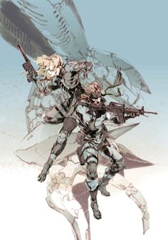 Metal Gear Solid 2: Sons of Liberty|Raiden and Snake