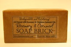 18Oz All Natural Soap Brick by MaineMountain on Etsy, $20.00