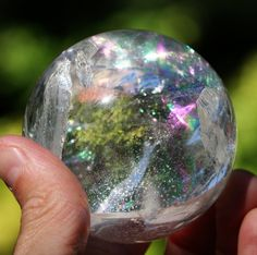59mm Rainbow Quartz Sphere Directly Imported from Brazil Inv. 35 - looks like a bubble!