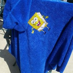 spongebob embroidered towel