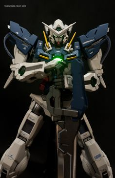 Pretty much a straight-built painted MG Exia, with few additional panel lines and gimmicks! Gundam Exia, Gundam 00, Gundam Toys, Gunpla Custom, Gundam Model, Figure Model, Mobile Suit, Game Art, Transformers